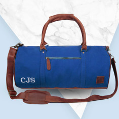 Canvas Duffle in royal blue