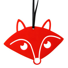 Red fox Christmas decoration
