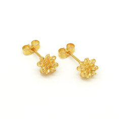 Gold Pollen Stud Earrings