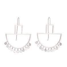 Geometric frill drop earrings (various designs)