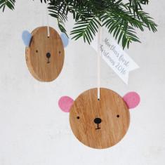 Personalised Bear Christmas Decoration