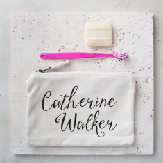 Personalised Script Toiletries Bag