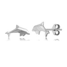 Dolphin Origami Stud Earrings