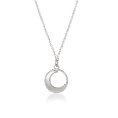 Sterling Silver Waning Moon Necklace