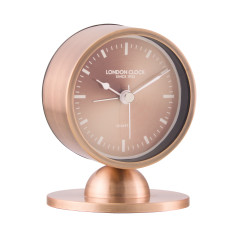 London Clock Company Glimmer Spun Copper Silent Alarm Clock