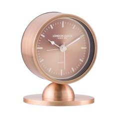 London Clock Company Glimmer Spun Copper Silent Alarm Clock