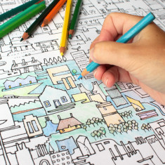City colouring poster