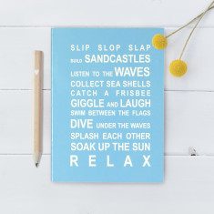 Beach rules notebook
