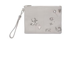 The Crown Jewels Clutch - Grey/Silver