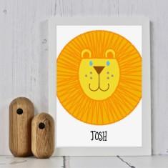 Lion Personalised Nursery Print