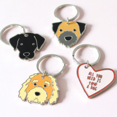 Metal Dog Keyring