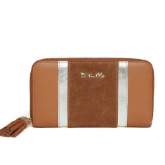 Il Tutto Signature Wallet in Tan with Gold