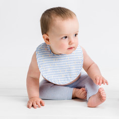 Dribble bib in harlequin blue