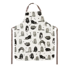 Feline fine cotton apron
