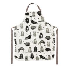 Feline fine cotton apron