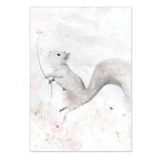 Spring Squirrel Print Pink
