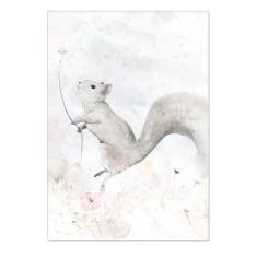 Spring Squirrel Print Pink