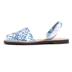 Porter leather sandals in ocean