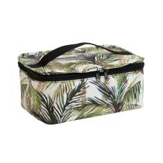 Stash bag in Green Palm print