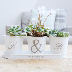 Personalised Initial Tray and Pot