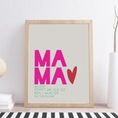 Personalised Mama Print