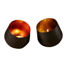 Ember votive in copper or gold