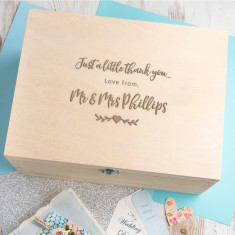 Personalised Wedding Thank You Box