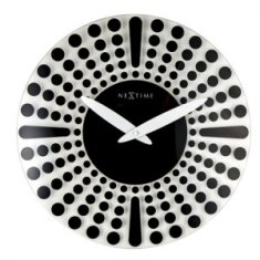 Glass clock Aboriginal culture Dreamtime design 43cm depicting rock formations