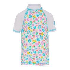 Girls' UPF 50+ Bloom Fitted Sunshirt Short Sleeve