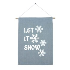 Let it snow handmade wall banner
