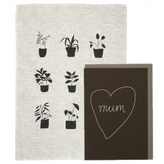Mother's Day plants tea towel pack