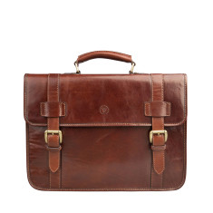 The Micheli Leather Backpack Briefcase
