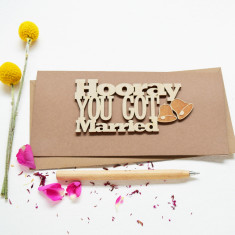Hooray You Got Married Keepsake Card