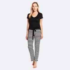 Night & day pant in white/black