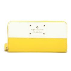 Signature wallet in yellow & white