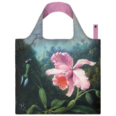 LOQI reusable bag in museum collection in still life with orchid