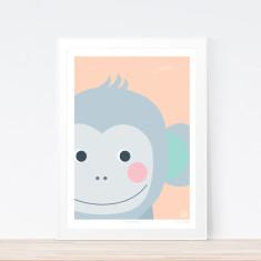 Tricky monkey art print