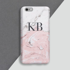 Pink Marble Personalised Phone Case