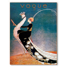 Vogue ride the peacock ready to hang canvas print