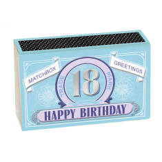 Coming Of Age Happy Birthday Greeting In A Matchbox (16, 18, 21)