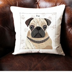Pug personalised cushion cover