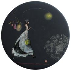 Voyage nocturne pocket mirror