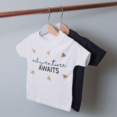 Personalised Adventure Awaits Children's T Shirt