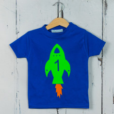Kids rocket birthday t-shirt
