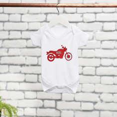 Personalised Motorbike Baby Onesie