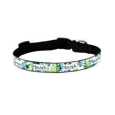 Personalised dog collar in Palm Breeze