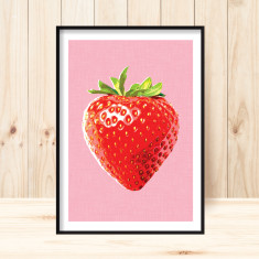 Strawberry pop art print