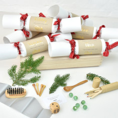 Personalised Christmas Mittens Name Crackers Set Of Six