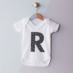 Personalised Geometric Initial Baby Grow