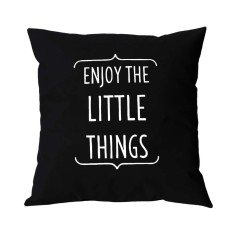 Enjoy the little things handmade cushion cover